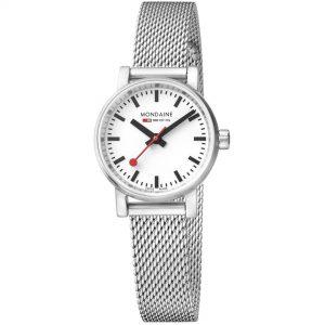 Mondaine evo2 Petite Stainles Steel Mesh Bracelet Ladies' Watch