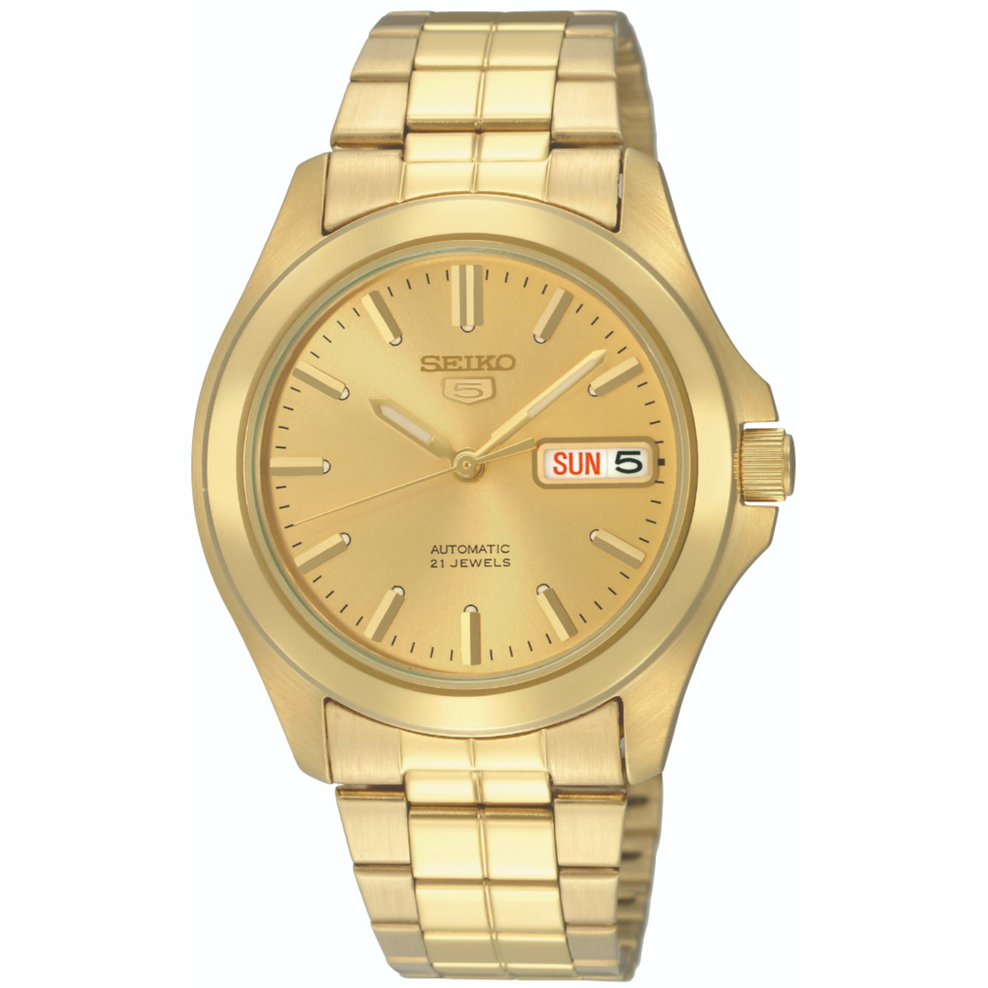 Seiko 5 Automatic Full Gold PVD Stainless Steel Men's Watch SNKK98K1