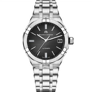 Maurice LaCroix Aikon Automatic Black Dial Silver Oyster Stainless Steel Bracelet Watch AI6007-SS002-330-1 RRP £1,490