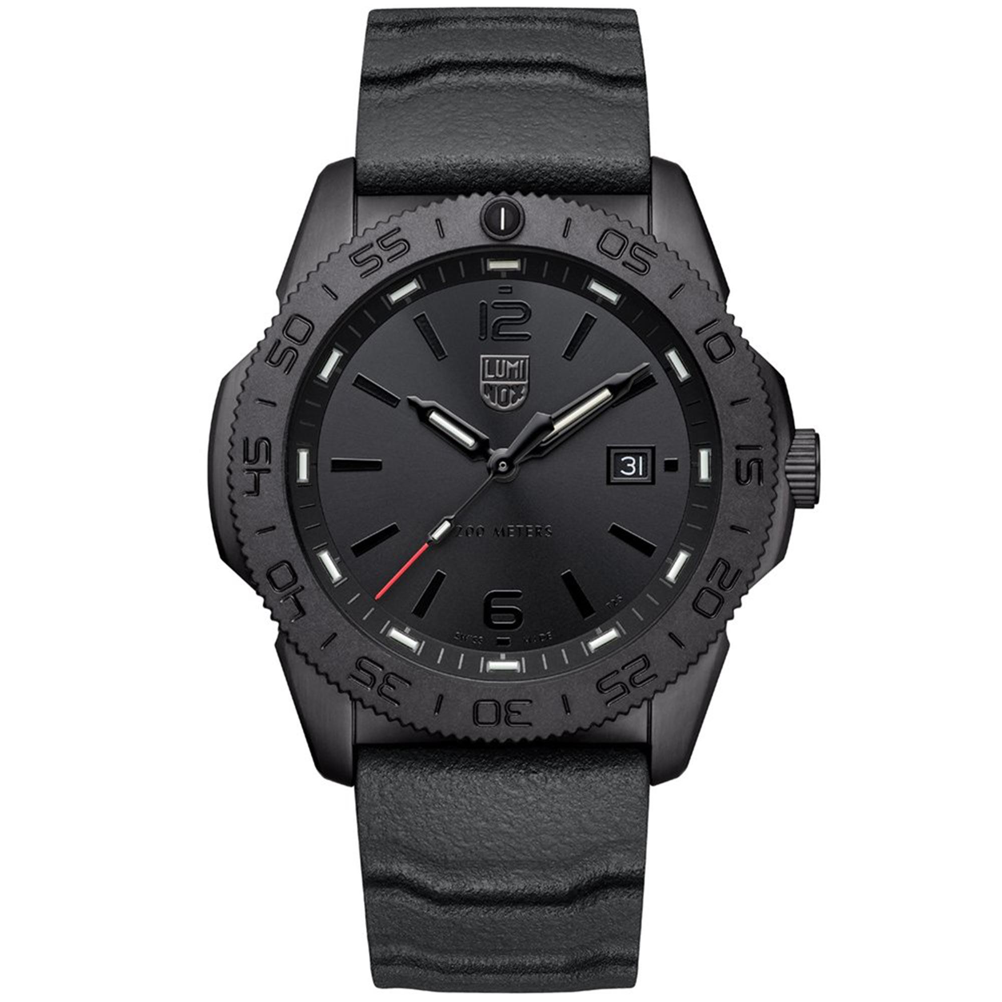 Luminox Pacific Diver Quartz Movement Black Dial Rubber Bracelet Mens Watch XS.3121.BO
