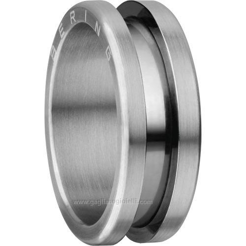 BERING Arctic Symphony Size 65 20.6mm Diameter Brushed Silver Ring 520-11-113
