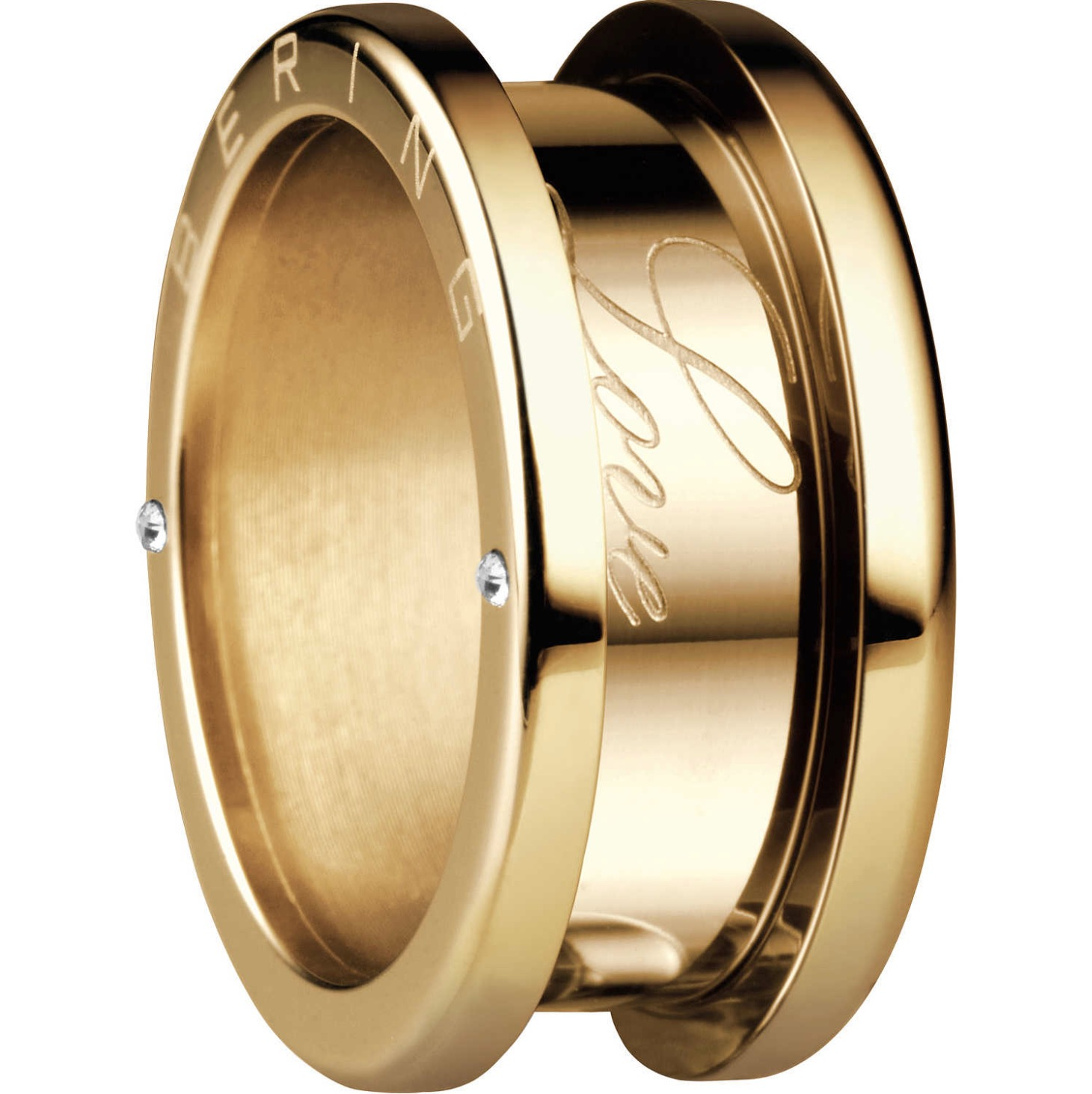 Bering Arctic Symphony Size 55 17.4mm Diameter Polished Gold Ring 520-20-74