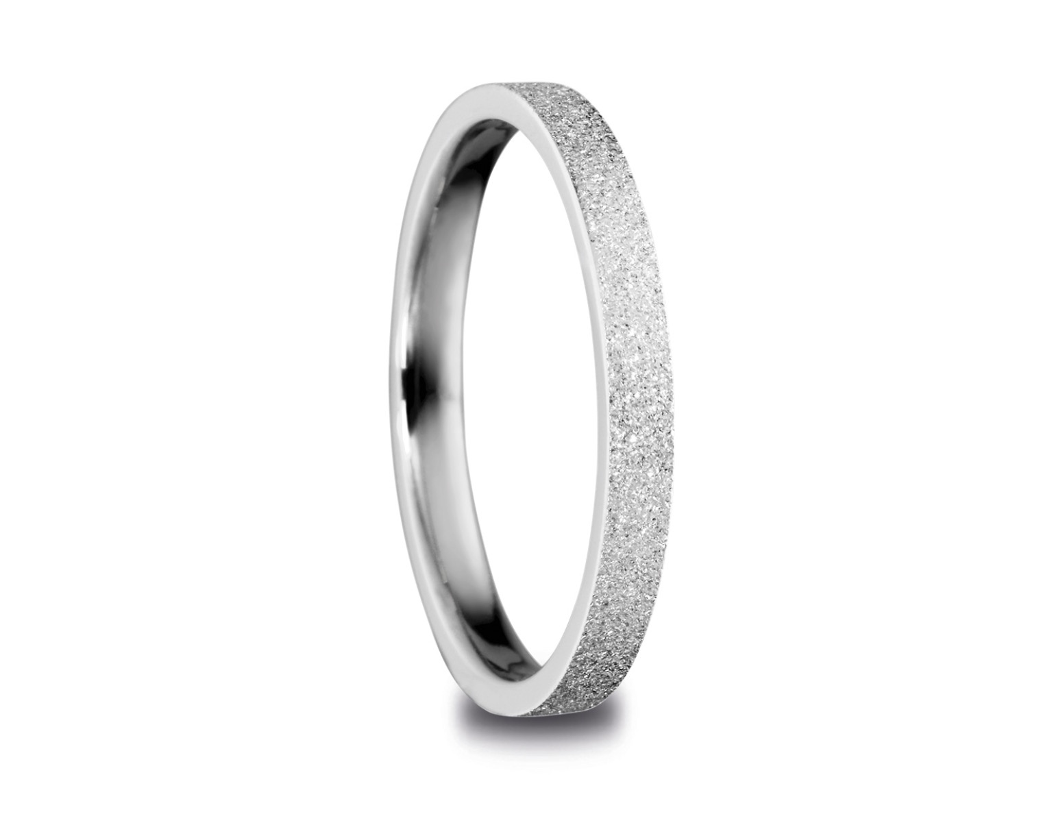 Bering Arctic Symphony Size 60 18.9mm Diameter Sparkling Silver Ring 557-19-71