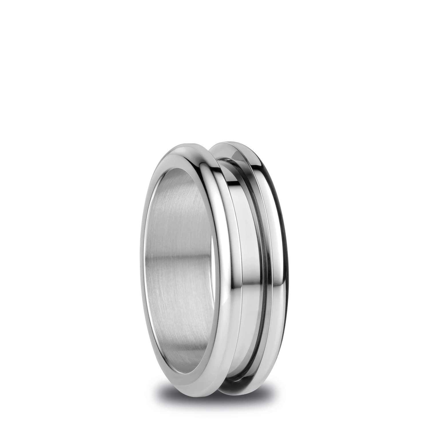 BERING Arctic Symphony Size 55 17.4mm Diameter Polished Silver Ring 526-10-73