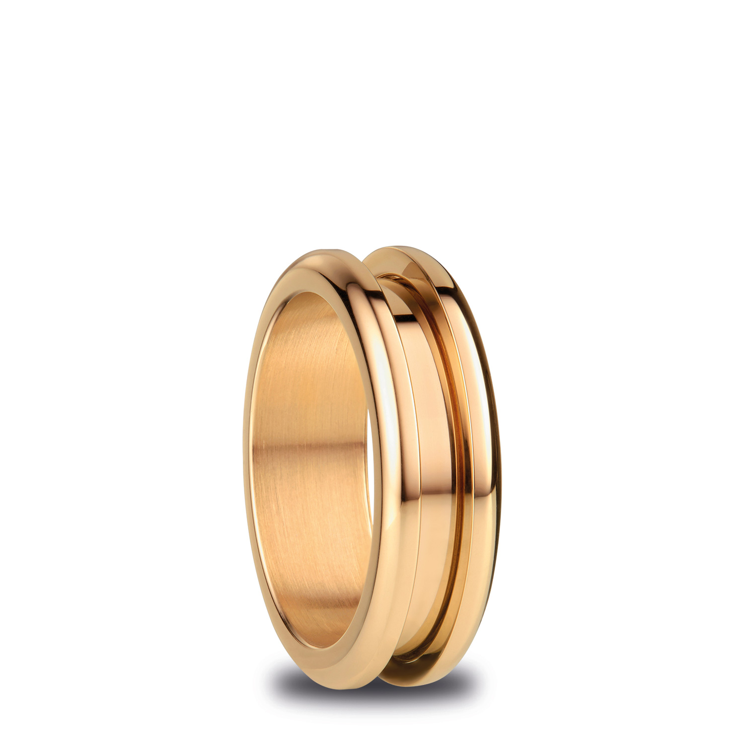 BERING Arctic Symphony Size 55 17.4mm Diameter Polished Gold Ring 526-20-73