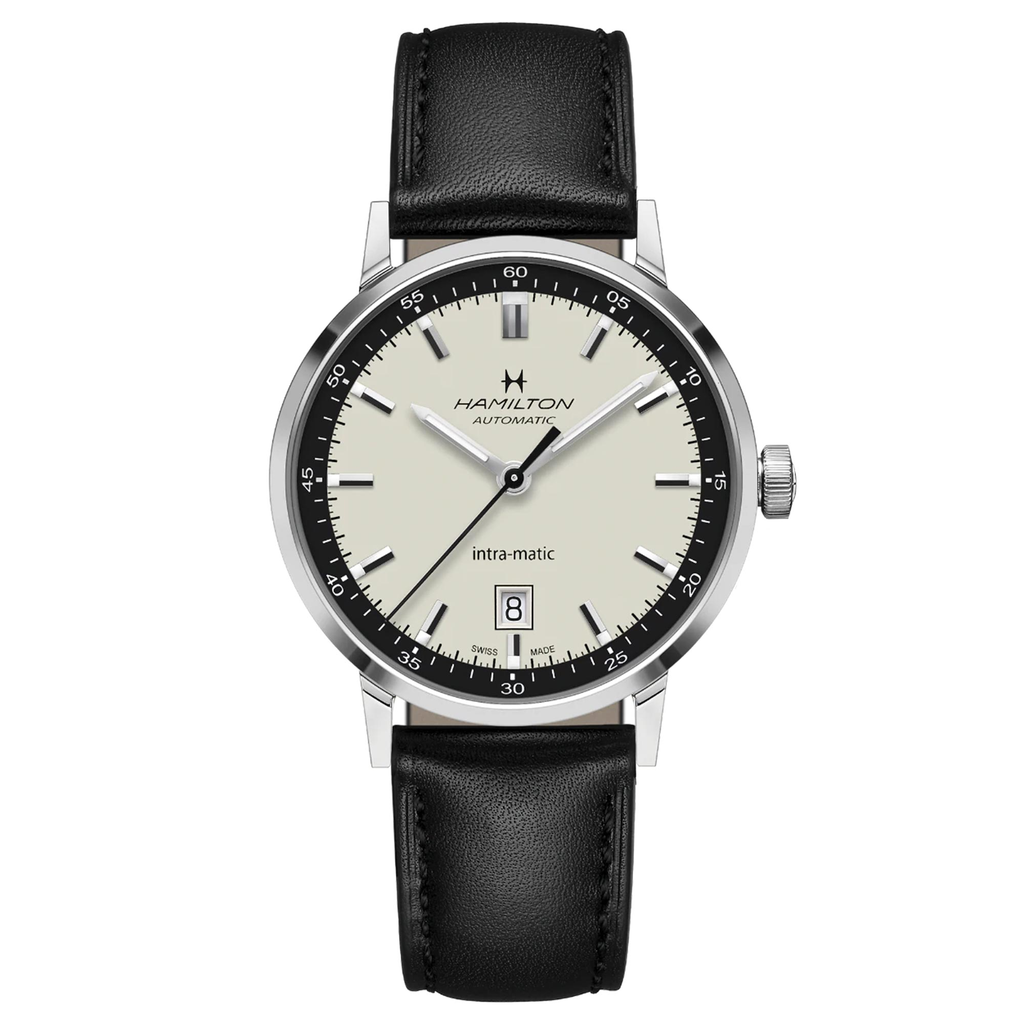 Hamilton American Classic Intra-Matic Automatic Leather Men's Watch H38425720