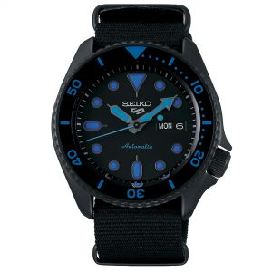 Seiko 5 Sports Automatic Black Dial Nylon Strap Men's Watch SRPD81K1