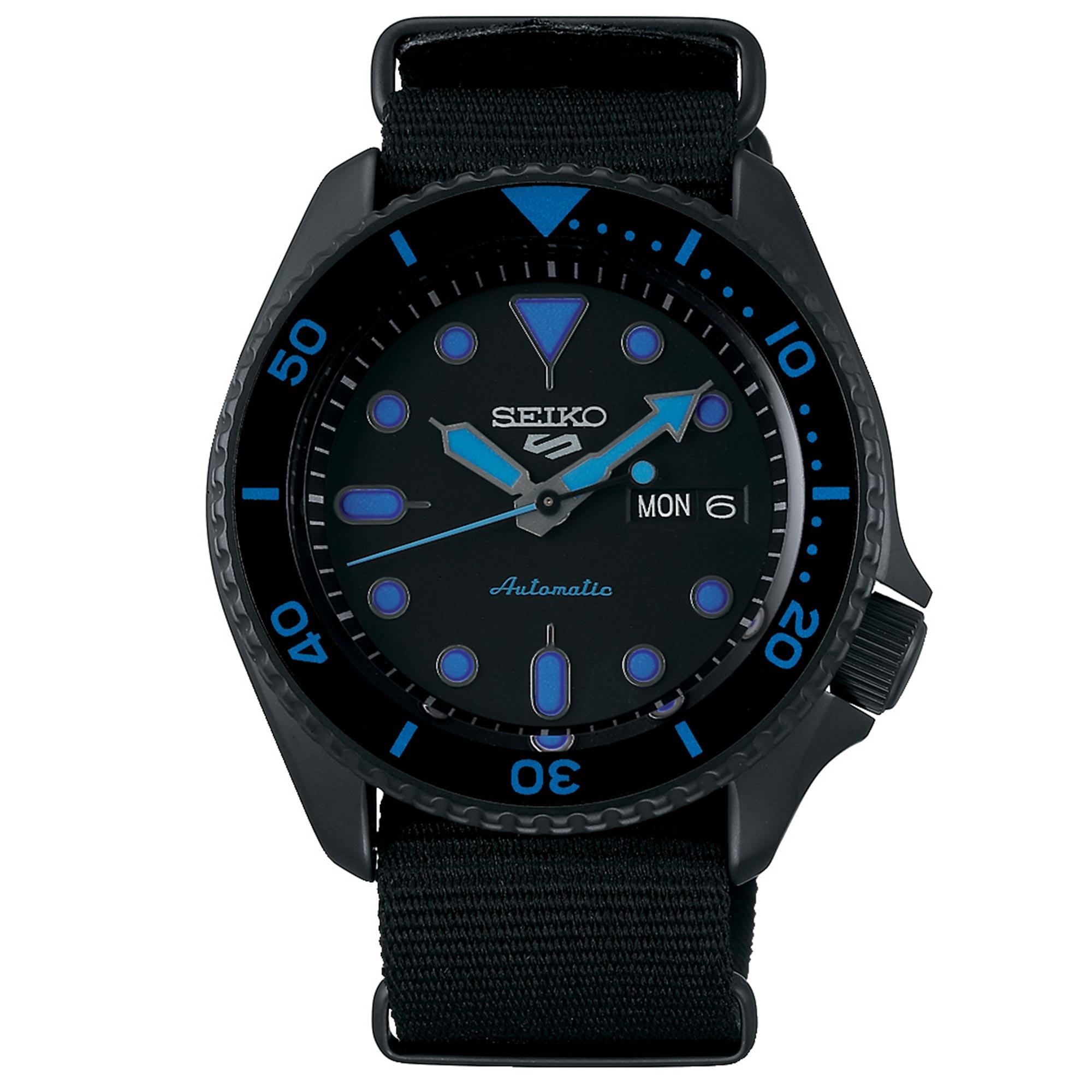 Seiko 5 Sports Automatic Black Dial Nylon Strap Men's Watch SRPD81K1