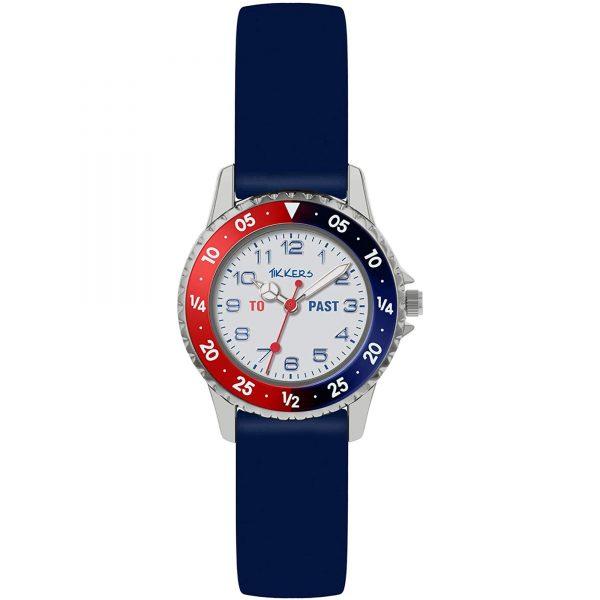 Tikkers Quartz White Dial Blue Silicone Strap Boys Watch ATK1040