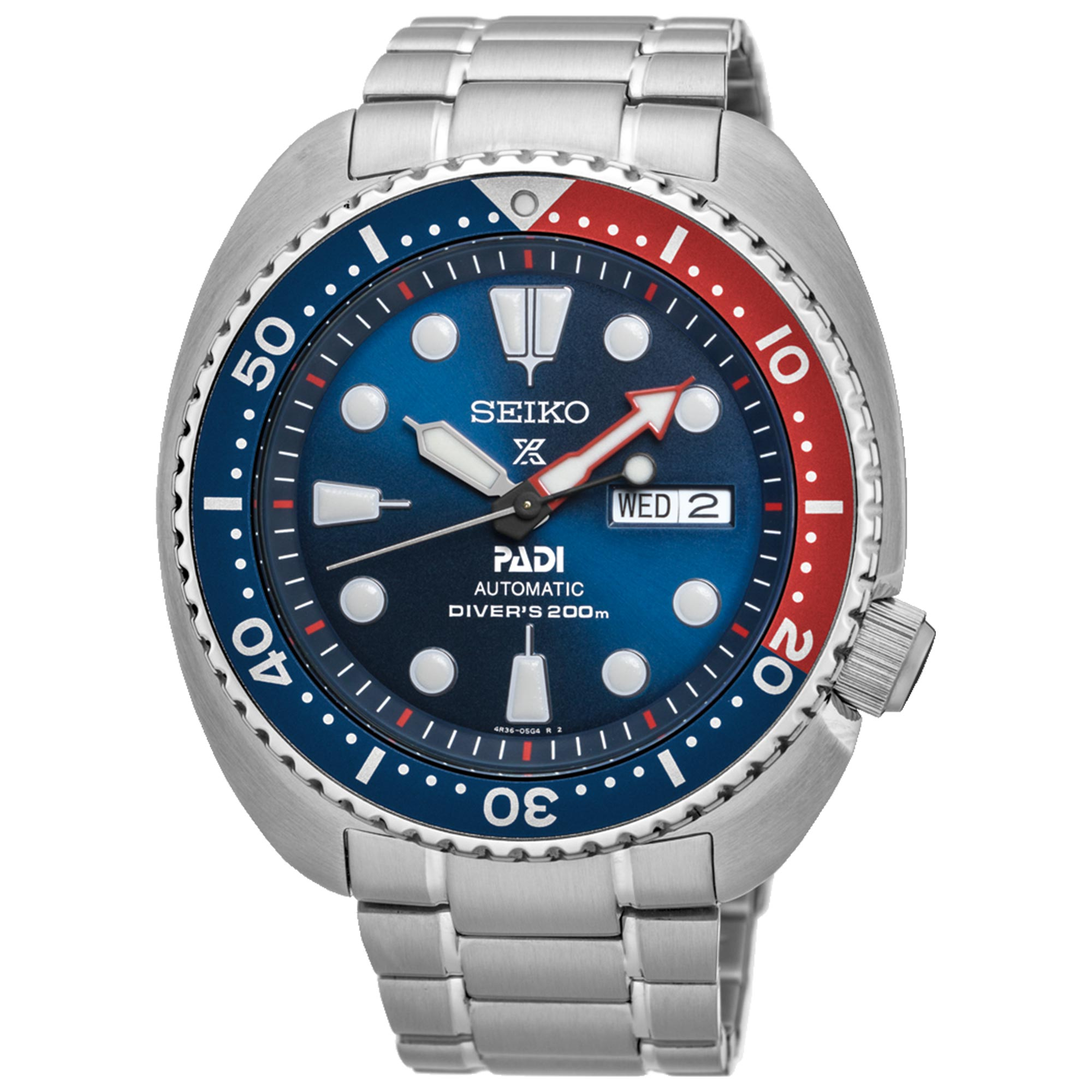 Seiko Special Edition Prospex PADI 'Turtle' Automatic Blue Dial Silver Stainless Steel Men's Watch SRPE99K1
