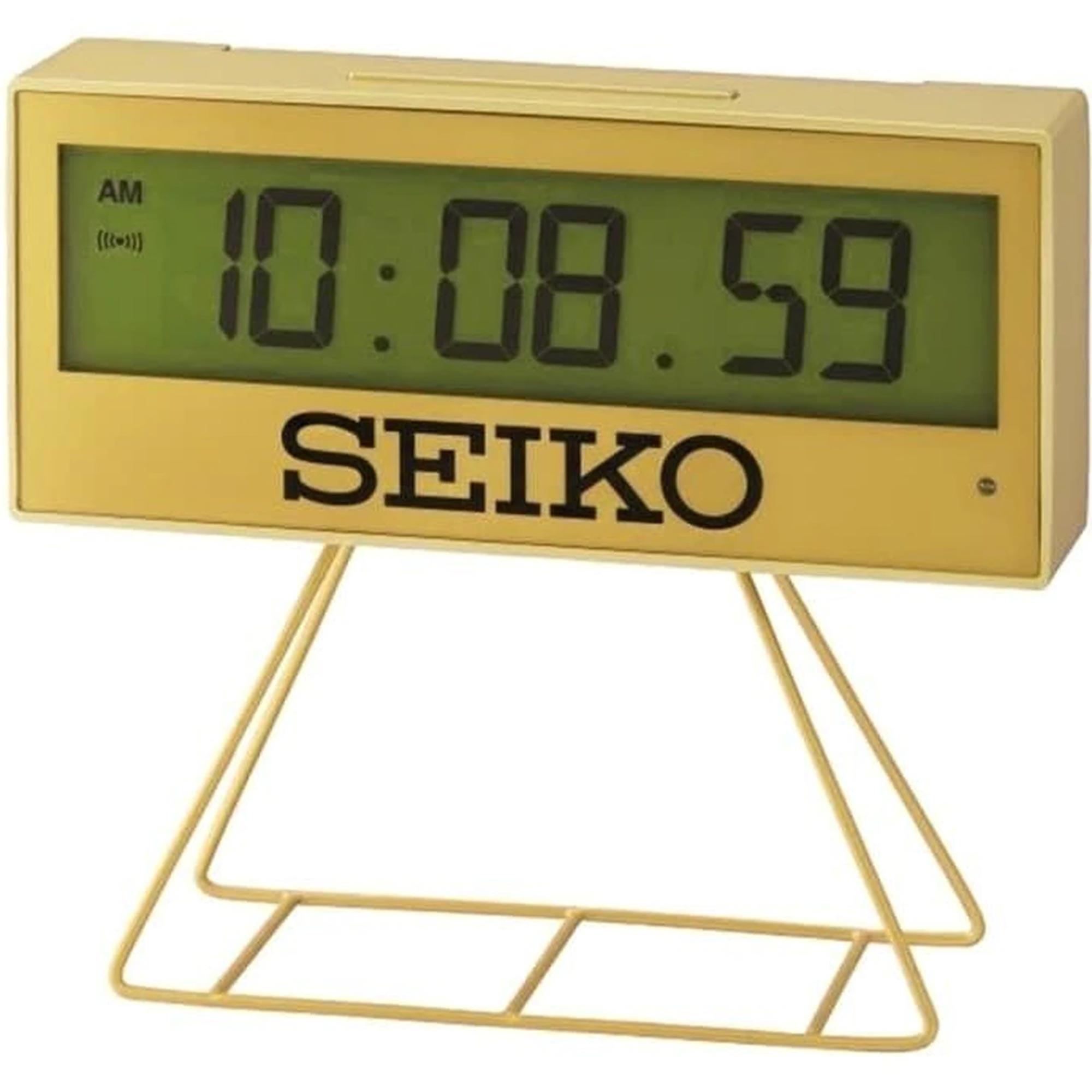 Seiko Limited Edition Digital Countdown Timer Alarm Gold Clock QHL084G