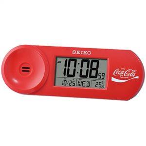 Seiko Coca Cola Quartz Digital Alarm Clock QHL902R