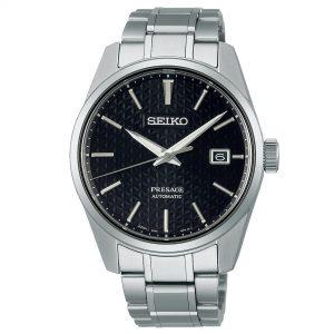 Seiko Presage Sharp Edge Series Automatic Black Dial Silver Stainless Steel Men's Watch SPB203J1
