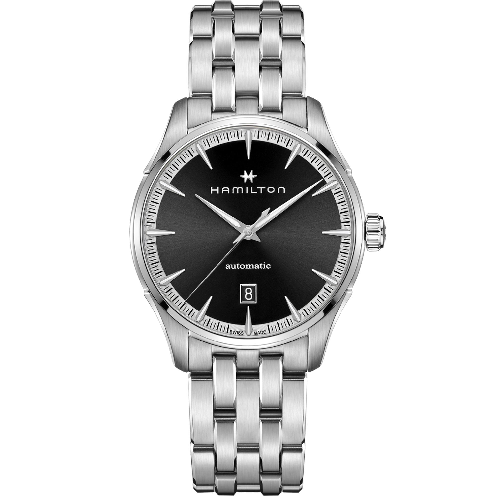 Hamilton Jazzmaster Automatic Black Dial Silver Stainless Steel Men's Watch H32475130
