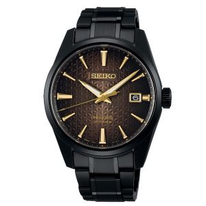 Seiko Presage Sharp Edged Automatic Black Dial Stainless Steel Bracelet Men's Watch SPB205J1