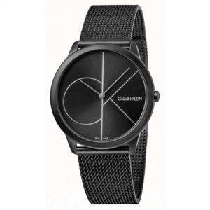 Calvin Klein Minimal Quartz Black Dial Milanese Stainless Steel Bracelet Men's Watch K3M5145X