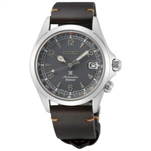 Seiko Prospex Alpinist 2021 European Limited Edition Automatic Grey Dial Brown Leather Strap Men's Watch SPB201J1