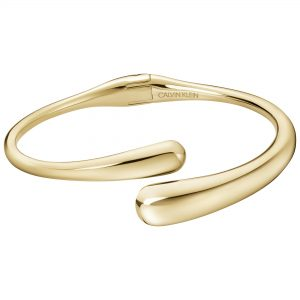 Calvin Klein Ellipse Gold Plated Ladies Bangle Bracelet Jewellery KJDMJF10010S