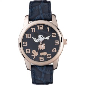 Disney Mickey Mouse Quartz Blue Dial Polyurethane Strap Watch MK1456
