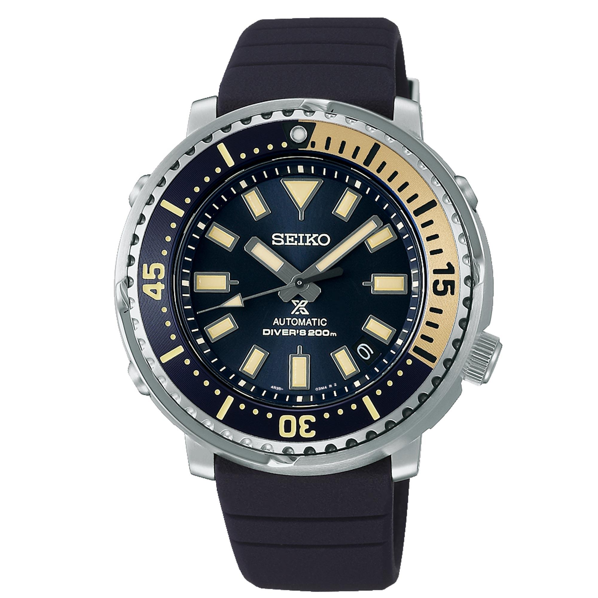 Seiko Prospex Street Series 'Tuna' Safari Edition Automatic Blue Dial Silicone Strap Men's Watch SRPF81K1