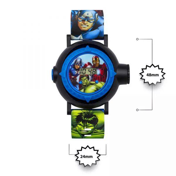 Disney Avengers Quartz Digital Dial Rubber Strap Boys Watch AVG3536ARG