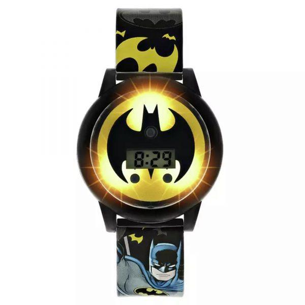 DC Comics Batman Quartz Digital Dial Plastic Strap Boys Watch BAT4668ARG