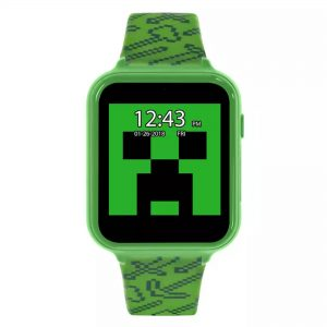 Minecraft Quartz Digital Dial Green Silicone Strap Boys Watch MIN4045 (ARG)
