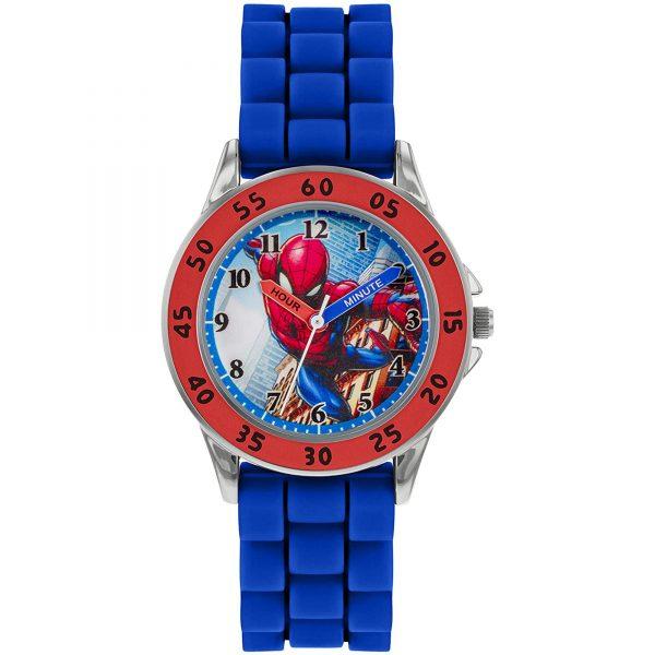 Disney Spiderman Quartz Blue Silicone Strap Boys Watch SPD9048