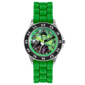 Disney Avengers Hulk Quartz Green Silicone Strap Boys Watch AVG9032