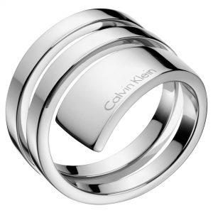 Calvin Klein Beyond Silver Stainless Steel Ladies Ring Size N KJ3UMR000107