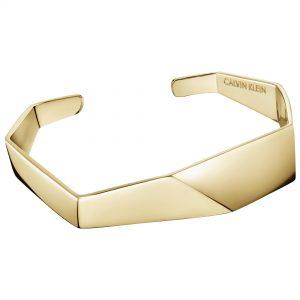 Calvin Klein Origami Gold PVD Stainless Steel Ladies Bracelet KJATJF10010S