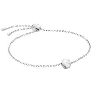 Calvin Klein Side Silver Stainless Steel Ladies Bracelet KJ5QMB000300