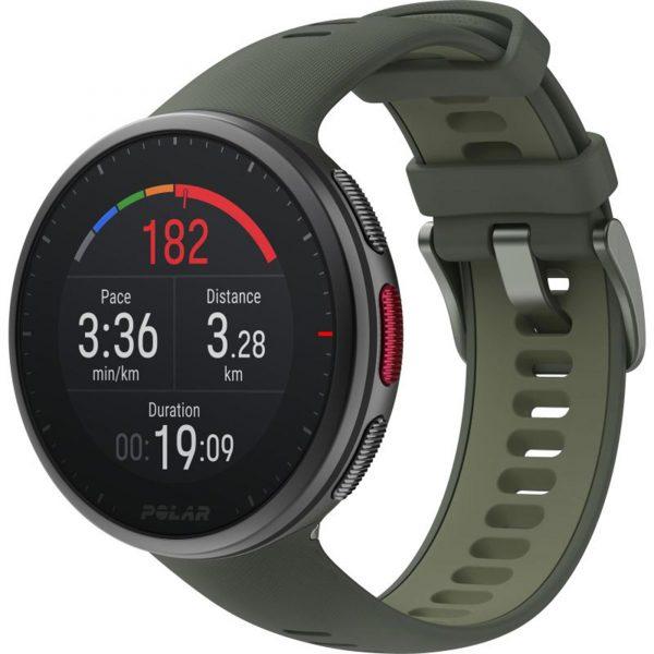 Polar Vantage V2 Quartz Digital Dial Green Rubber Strap Smartwatch 90083653
