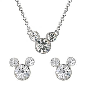 Disney Mickey Mouse Birthstone Necklace & Earring Set Ladies Jewellery SH00519RAPRL.PH
