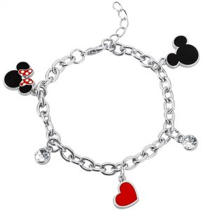Disney Minnie & Mickey Mouse Charm Bracelet Ladies Jewellery BH00228RL-65