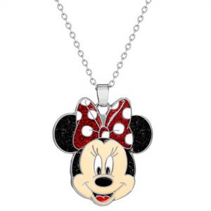Disney Minnie Mouse Glitter Necklace Ladies Jewellery NH00759RL-16