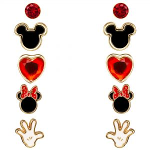 Disney Five Mickey Mouse Earrings Set Ladies Jewellery SH00415YL