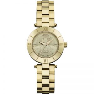 Vivienne Westwood Westbourne Orb Quartz Gold Dial Stainless Steel Ladies Watch VV092CPGD