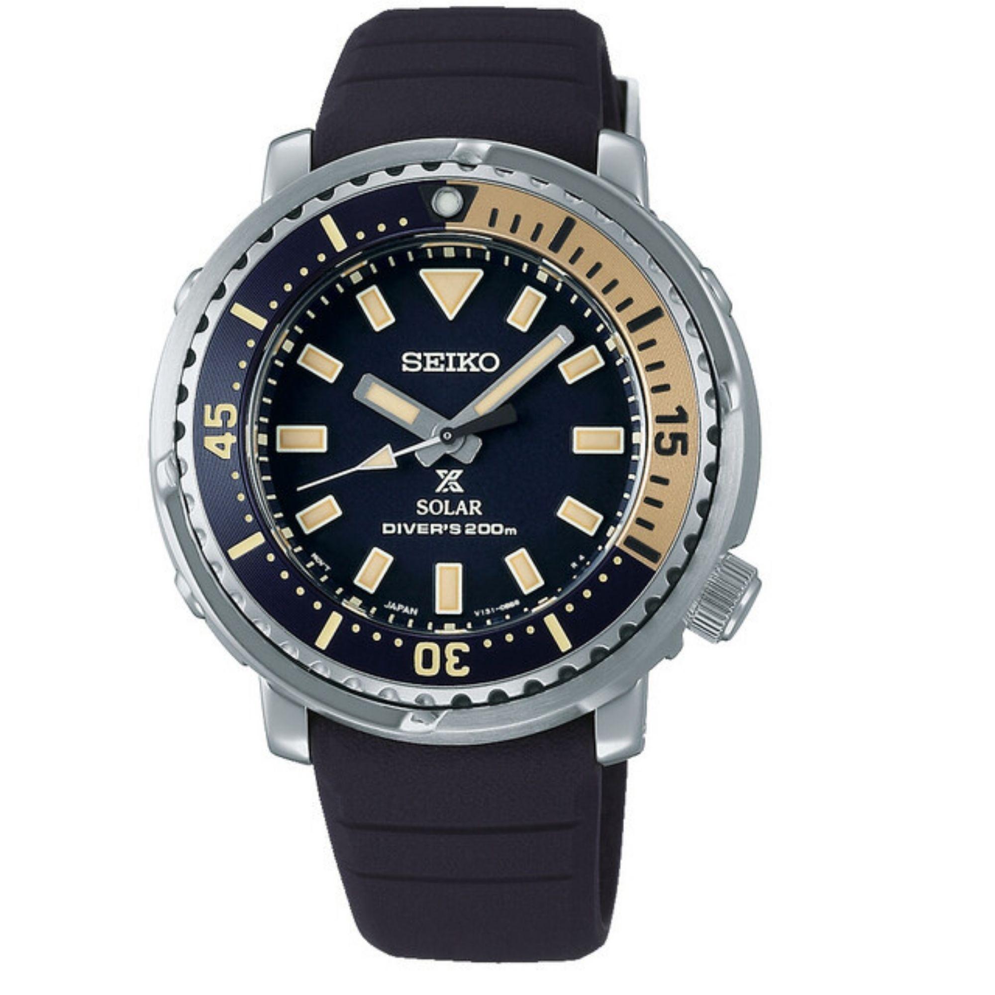 Seiko Prospex Street Series Mini 'Tuna' Safari Edition Automatic Blue Dial Silicone Strap Women's Watch SUT403P1