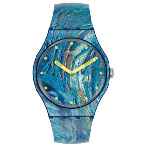 SWATCH MoMA Quartz The Starry Night By Vincent Van Gogh, The Watch SUOZ335