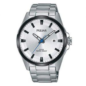 Pulsar Quartz Movement Silver Dial Steel Strap Men's Watch PS9511X1