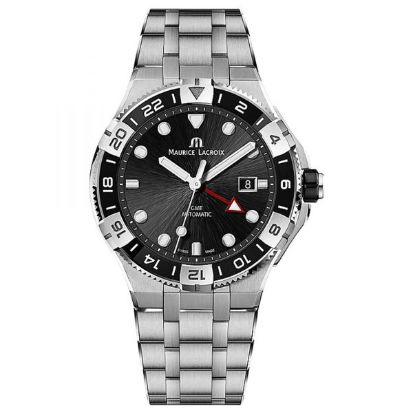 Maurice Lacroix Aikon GMT Automatic Movement Grey Dial Steel Strap Men's Watch AI6158-SS002-310-1