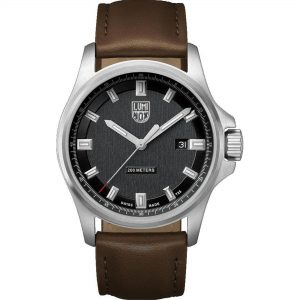 Luminox Land Series Quartz Black Dial Brown Leather Strap Men's Watch XL.1831