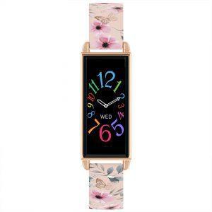 Reflex Active Digital Quartz Black Dial Pink PU Strap Watch RA02-2054