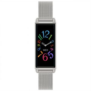 Reflex Active Digital Quartz Black Dial Silver Milanese Stainless Steel Bracelet Watch RA02-4039