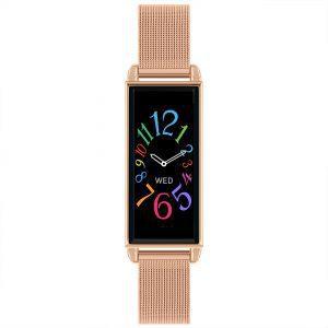 Reflex Active Digital Quartz Black Dial Rose Gold Milanese Stainless Steel Bracelet Watch RA02-4040