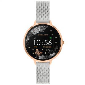 Reflex Active Digital Quartz Black Dial Silver Milanese Stainless Steel Bracelet Watch RA03-4037