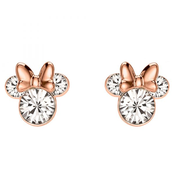 Disney Minnie Mouse Stone Set Silver and Rose Gold Earrings EF00469PAPRL.PH
