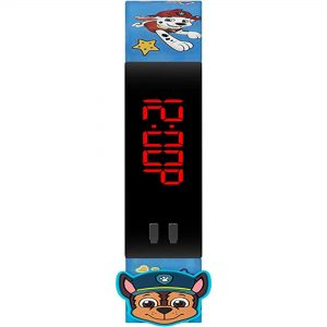 Disney Paw Patrol Digital Quartz Movement Black Dial Silicone Bracelet Kids Watch PAW4379