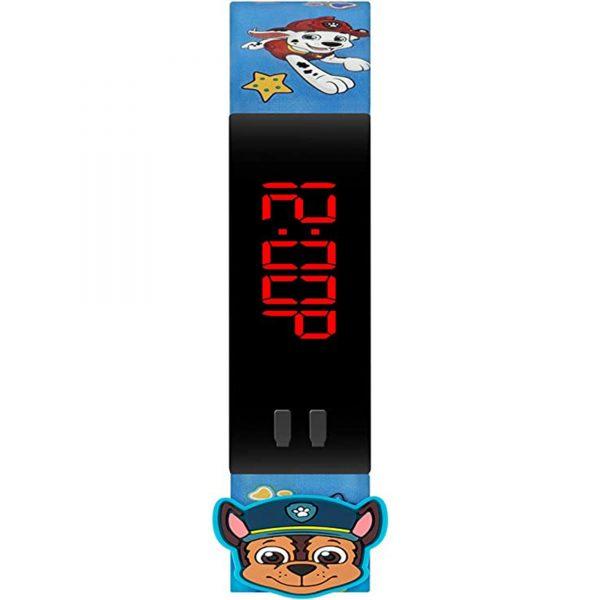 Disney Paw Patrol Digital Quartz Movement Black Dial Silicone Bracelet Kids Watch PAW4379